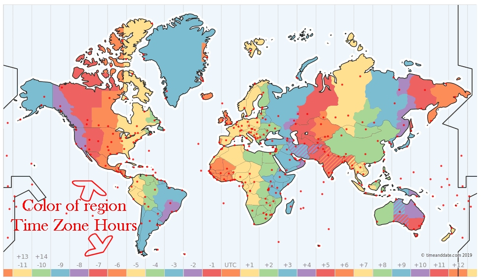 Time and Date Time Zone Map